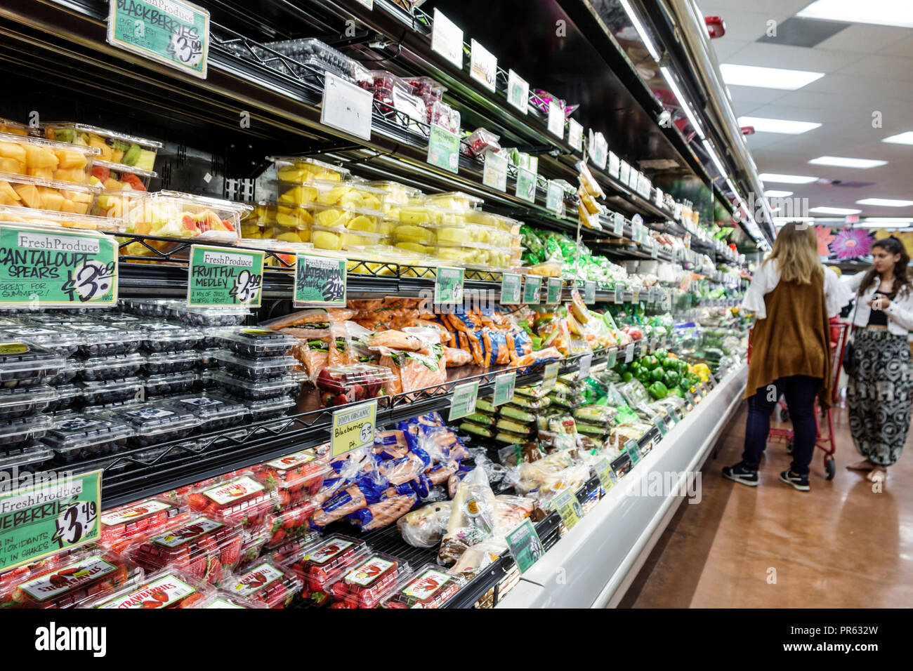 Miami Florida Trader Joe's supermarket grocery store food inside shopping display sale fruit produce - Stock Image