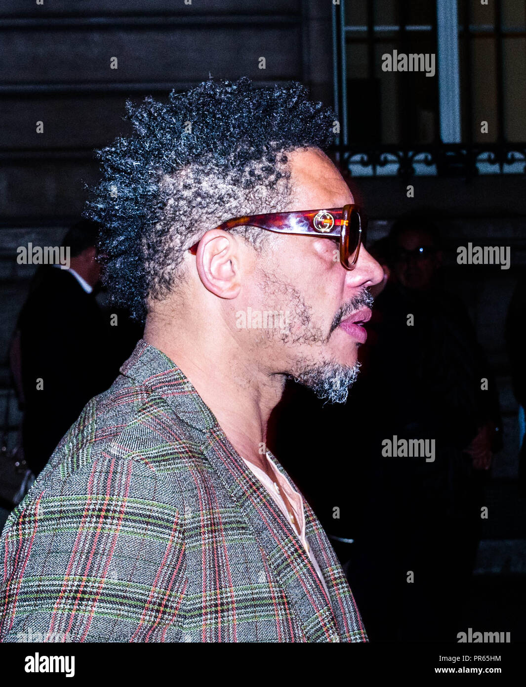 Fashion Week In Paris Joey Starr Arrives For Etam Live Show Takes Place At The National School Of Fine Arts Stock Photo Alamy