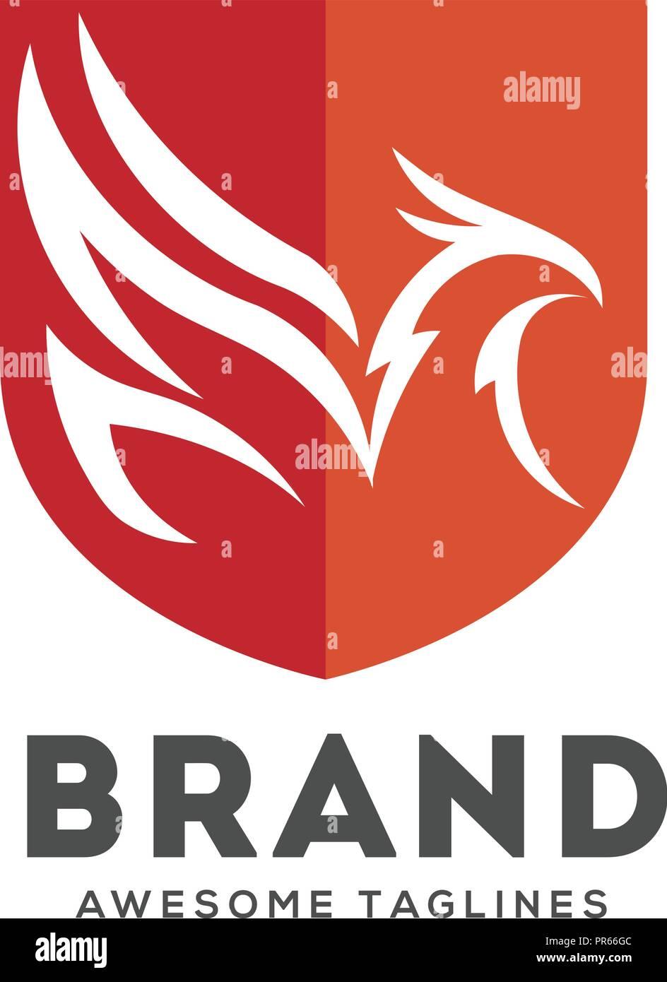 Eagle Logo Design With Shield Stock Photos Eagle Logo Design With