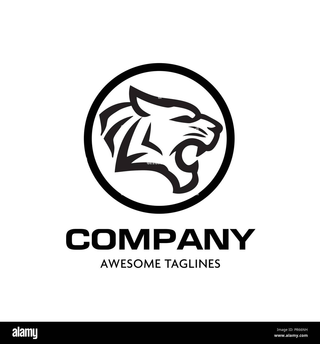 Tiger head vector logo concept  Tiger head silhouette sign  Bengal