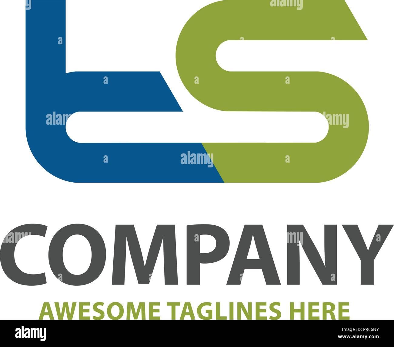 letter ts logo design vector illustration template letter t and s logo vector