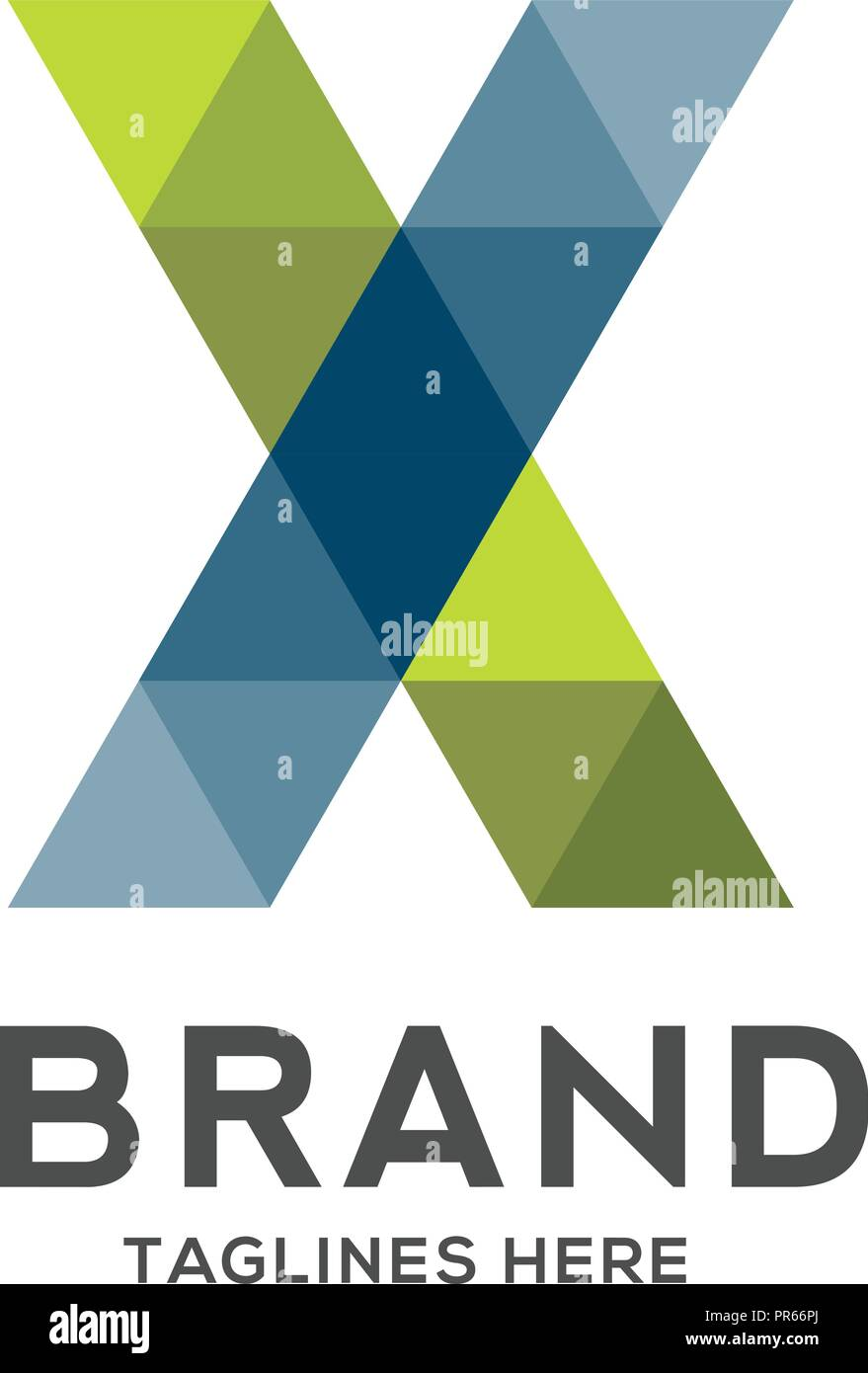 abstract trend polygon letter x logo design template art tech media app creative sign colorful symbol icon bright alphabet font