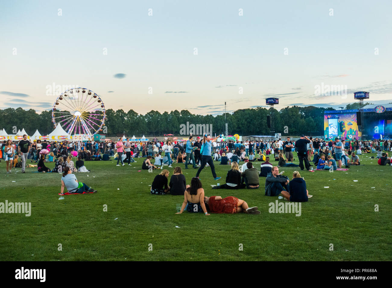 Berlin Lollapalooza music festival 2018 - Stock Image