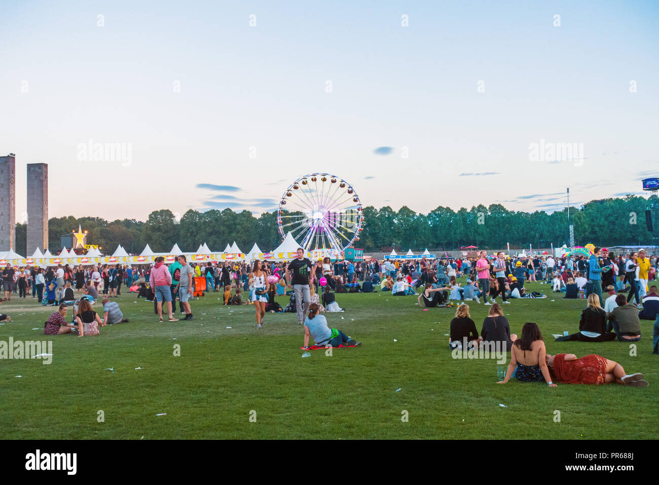 Berlin Lollapalooza music festival 2018 - Stock Image