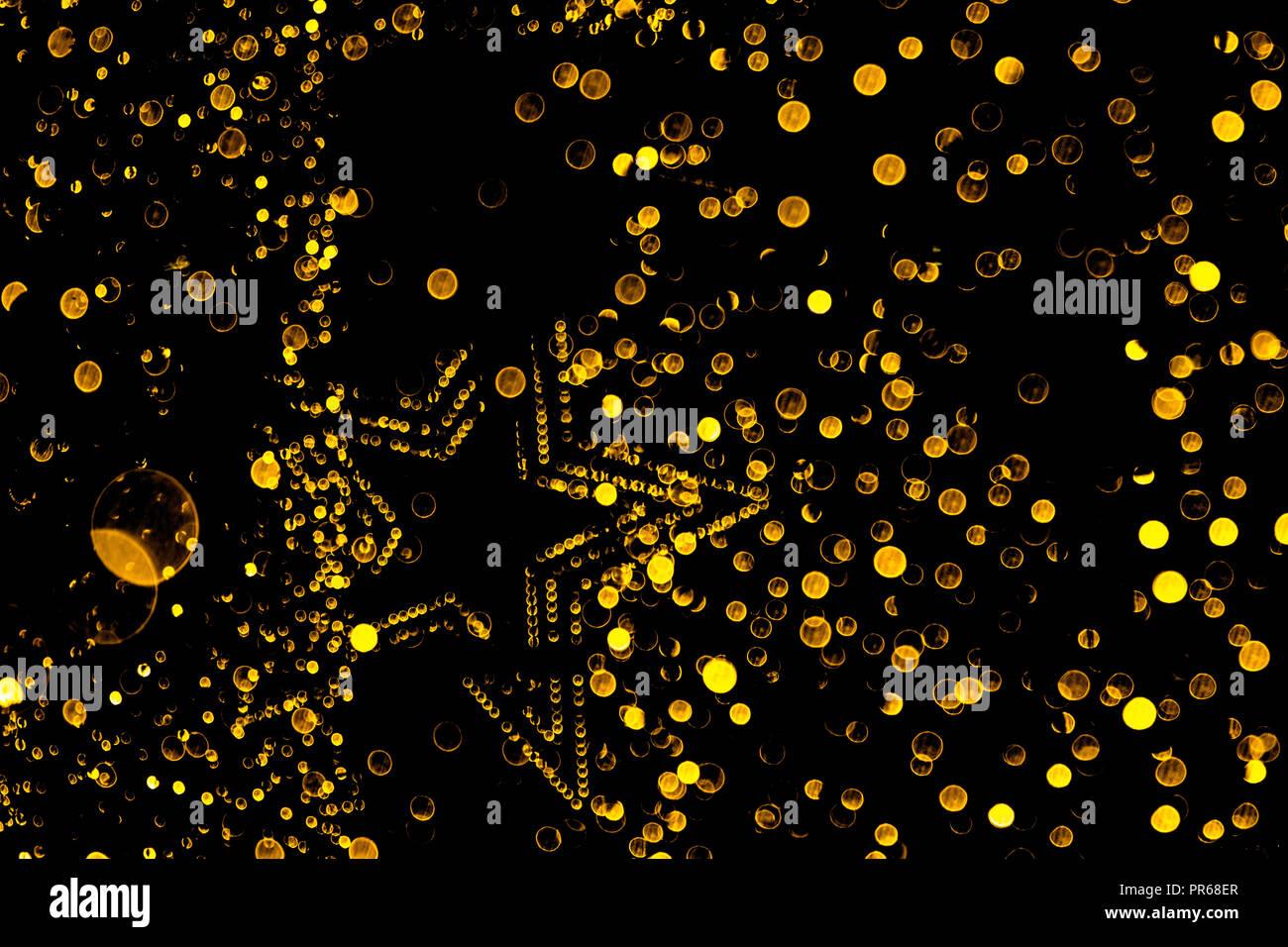 Bokeh: A disco night in glitter and stars - Stock Image