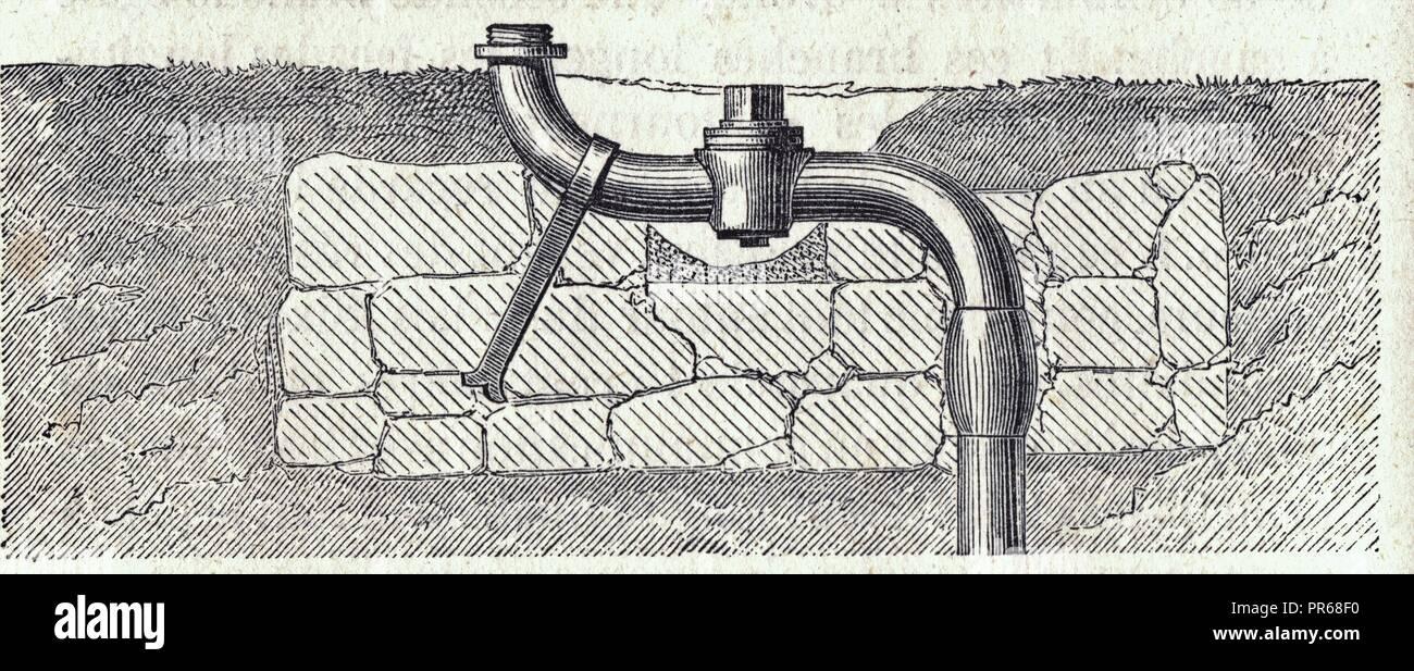 Tuyau de prise d'eau pour bouche d'incendie ou d'arrosage - Stock Image