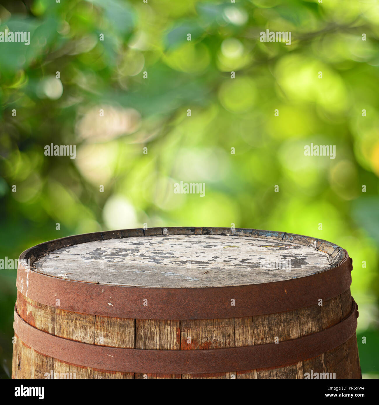 Barrel top background - Stock Image
