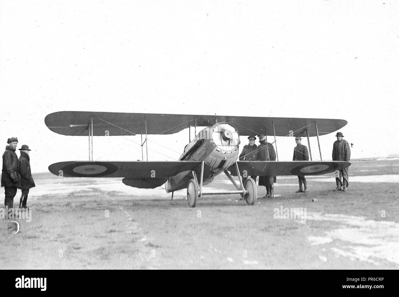 2/1/1918 -  Front view of a spad aeroplane, Mineola, L.I - Stock Image