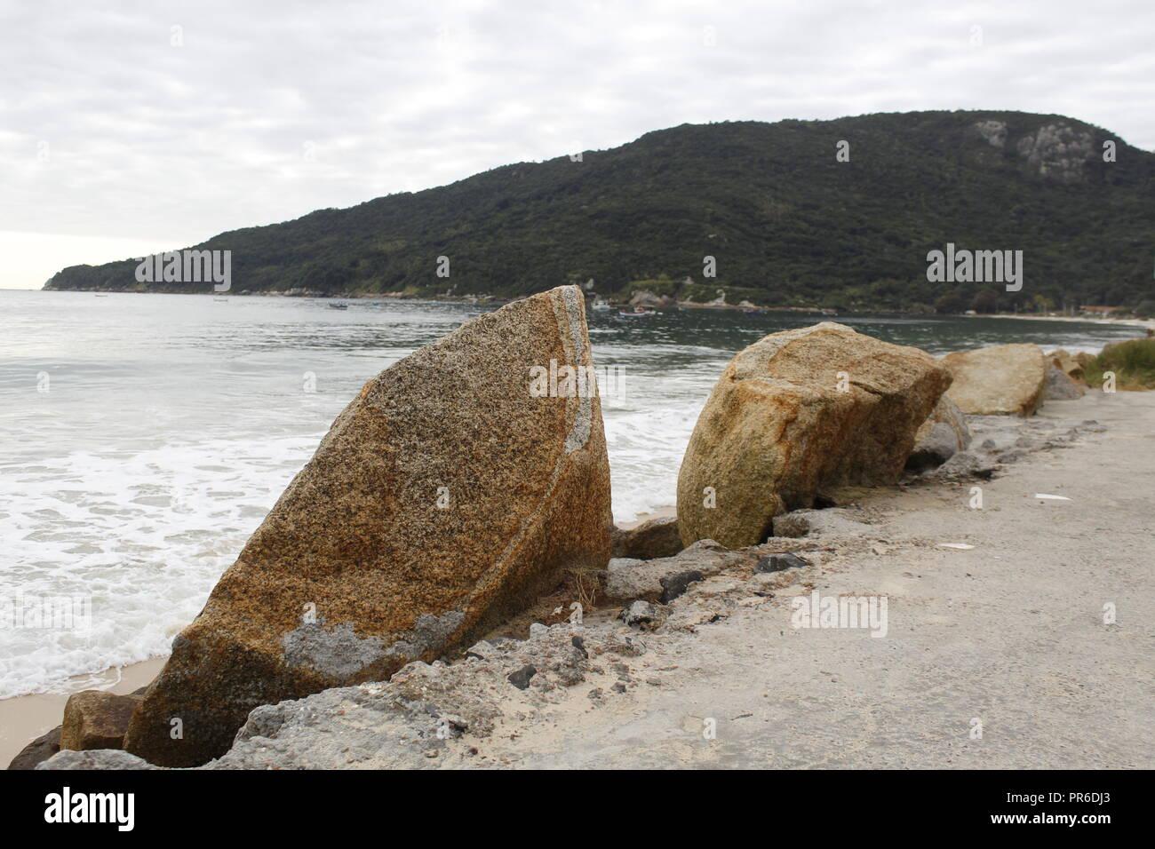Rocky view of Florianopolis, Brazil - Stock Image