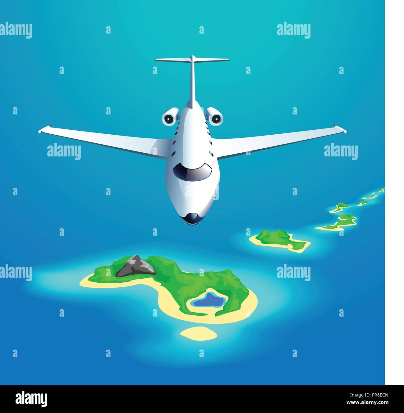 airplane front view - Stock Vector