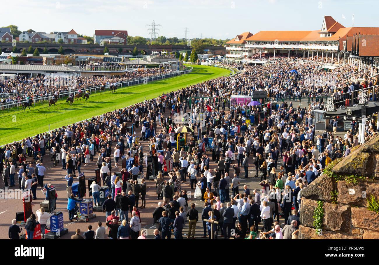 Chester Races, in September 2018. - Stock Image