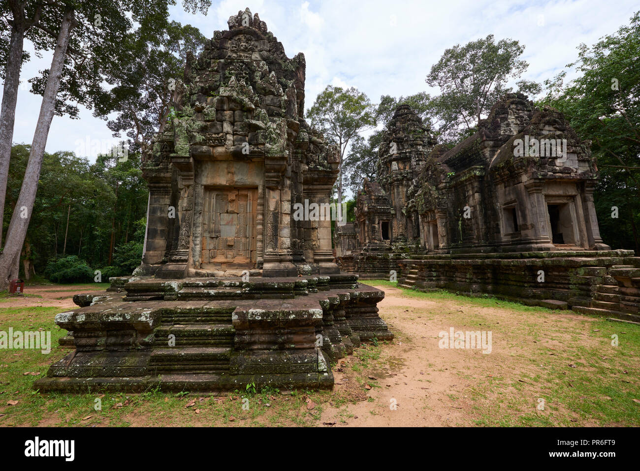 Chau Say Tevoda ruins in Angkor Wat. The Angkor Wat complex, Built during the Khmer Empire age, located in Siem Reap, Cambodia, is the largest religio - Stock Image