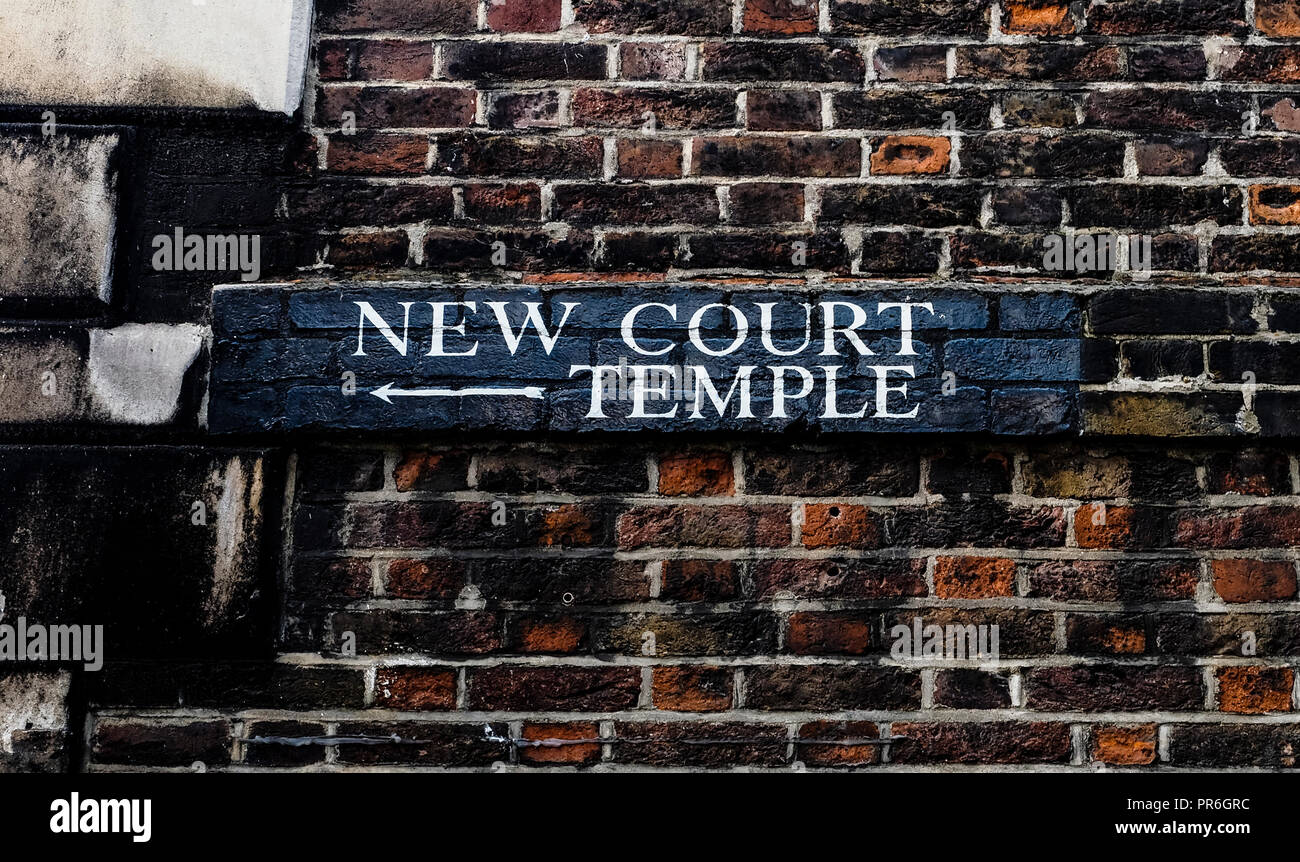 New Court Temple - Stock Image