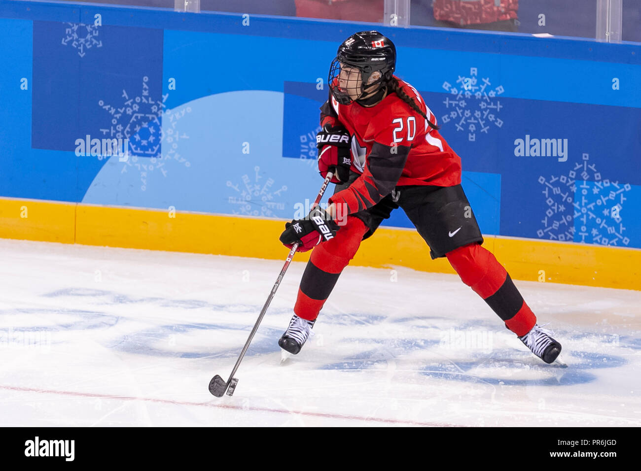Sarah Nurse (CAN) during Team OAR vs Team Cananda competing in Women's hockey at the Olympic Winter Games PyeongChang 2018 - Stock Image