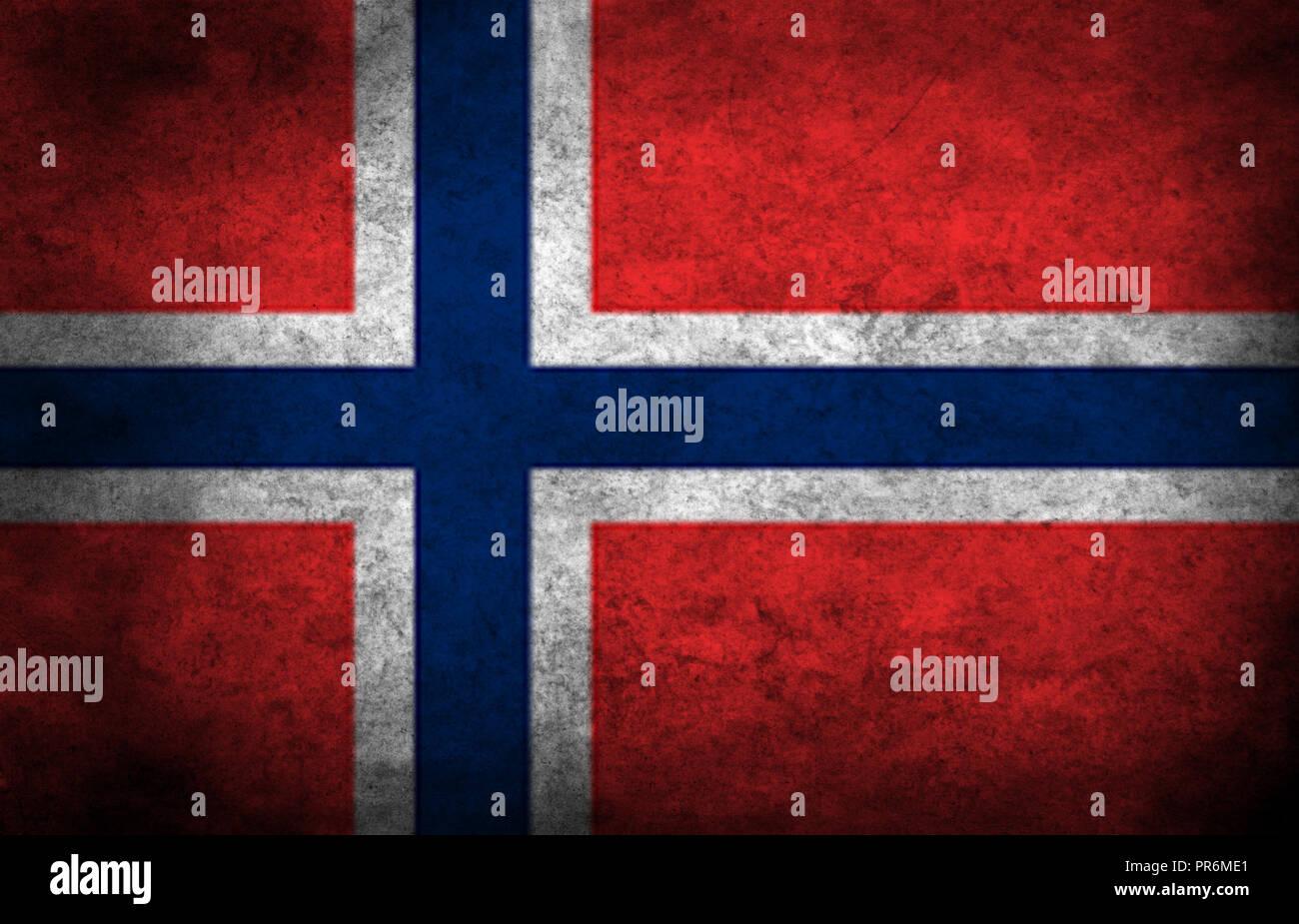 Norway flag - Stock Image
