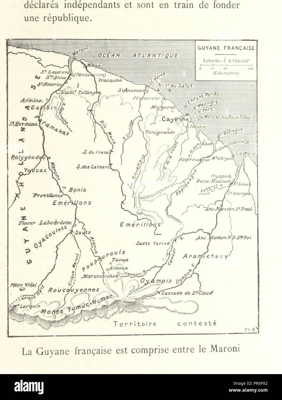 page 19 of 'Les Français en Guyane . Illustrations, etc. [With a preface by H. A. Coudreau.]' . - Stock Image