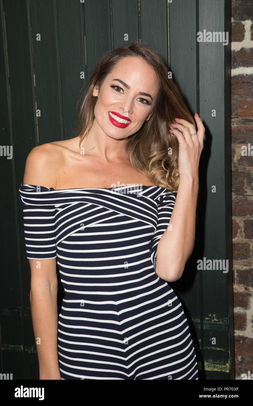 Celebs attend Union J - single launch party  Featuring: Emma Conybeare Where: London, United Kingdom When: 29 Aug 2018 Credit: Phil Lewis/WENN.com - Stock Image