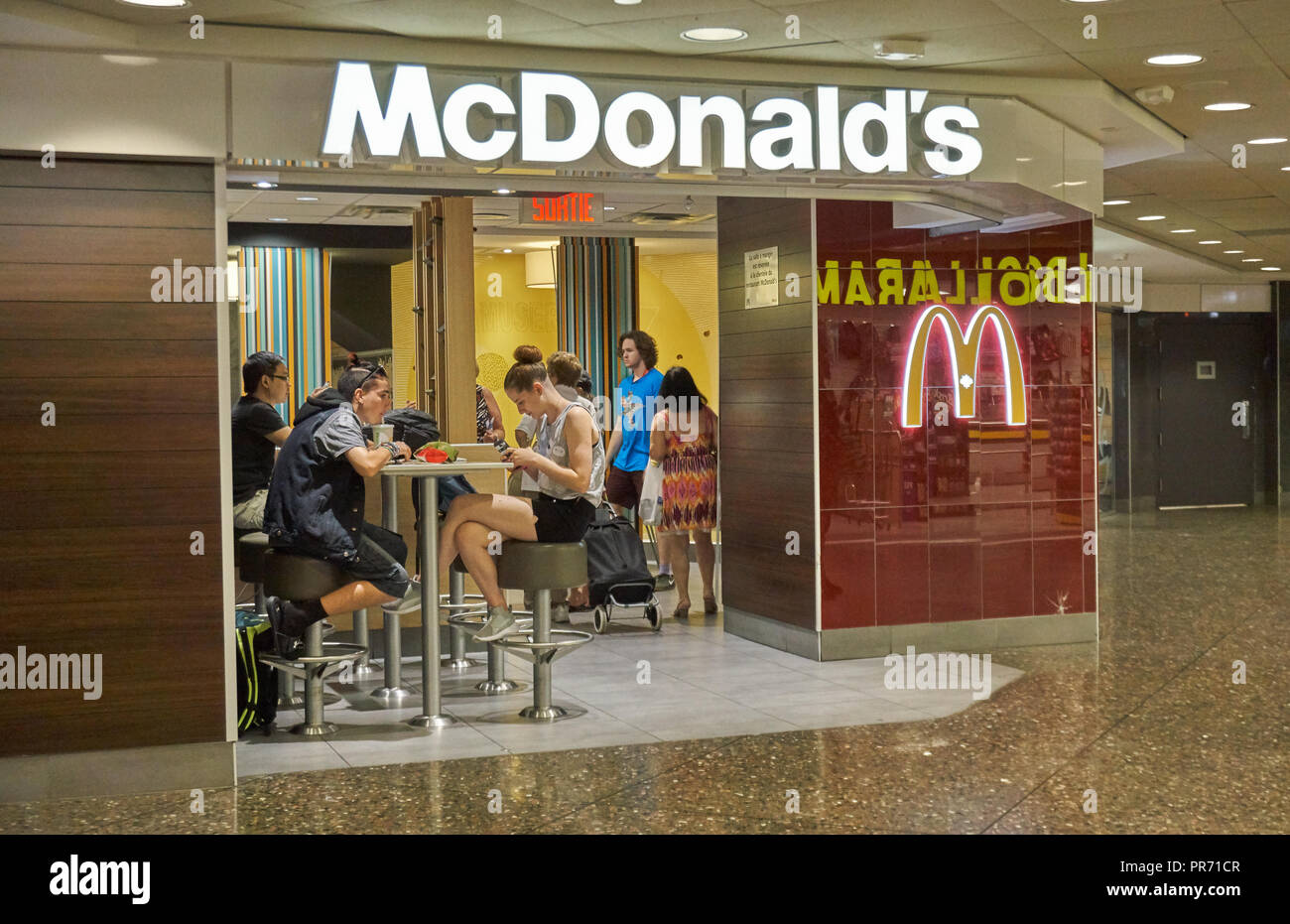 Montreal Canada September 8 2018 People In Mcdonalds