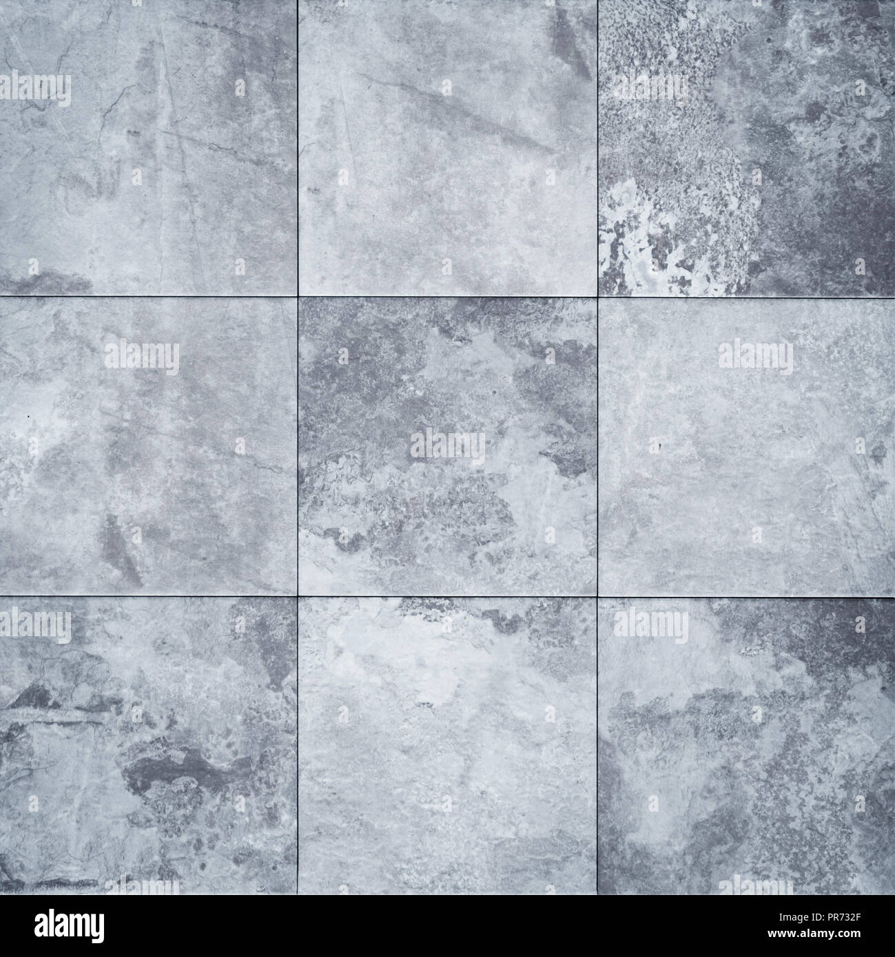 patchwork tile with stone texture - tiled background Stock Photo