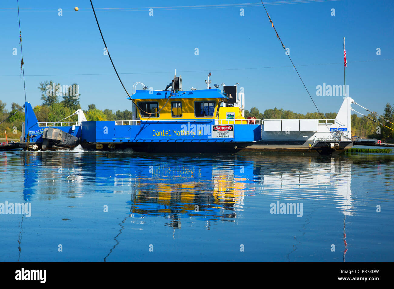 Ferry, Willamette Mission State Park, Oregon - Stock Image
