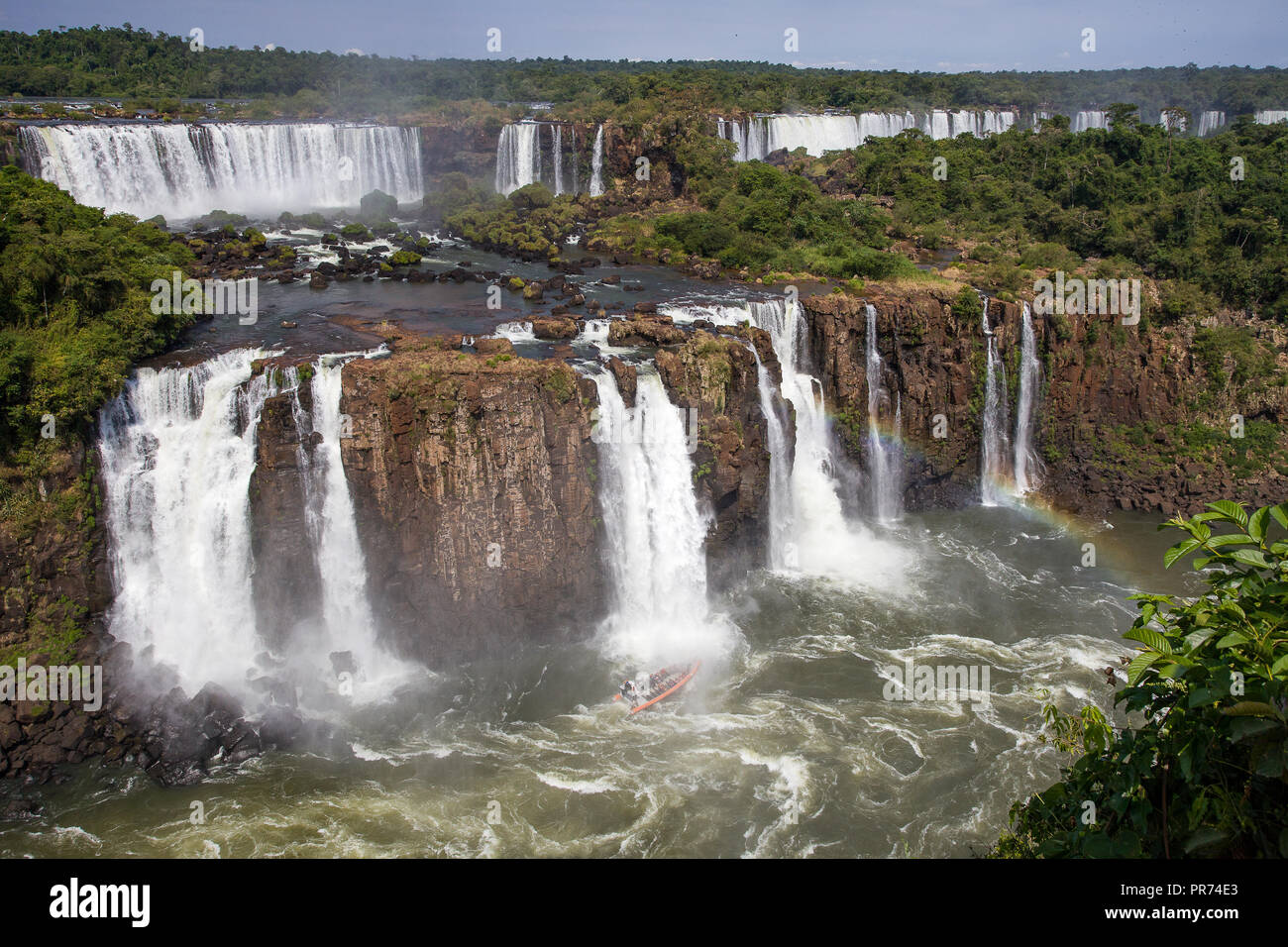 A partial view of the Iguazu falls in Argentina - Stock Image