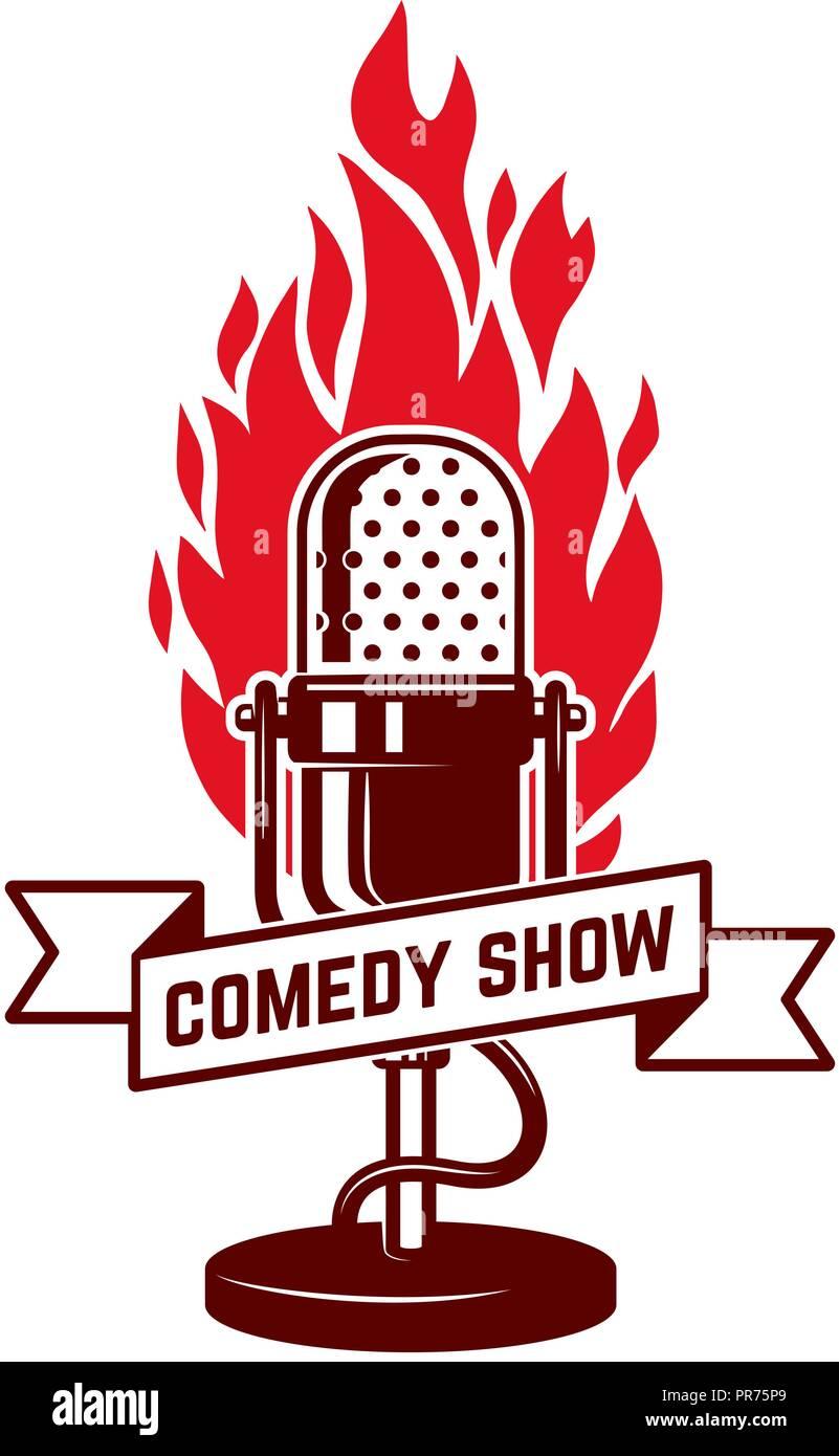 Comedy Show Emblem Template Design Element For Poster Flyer