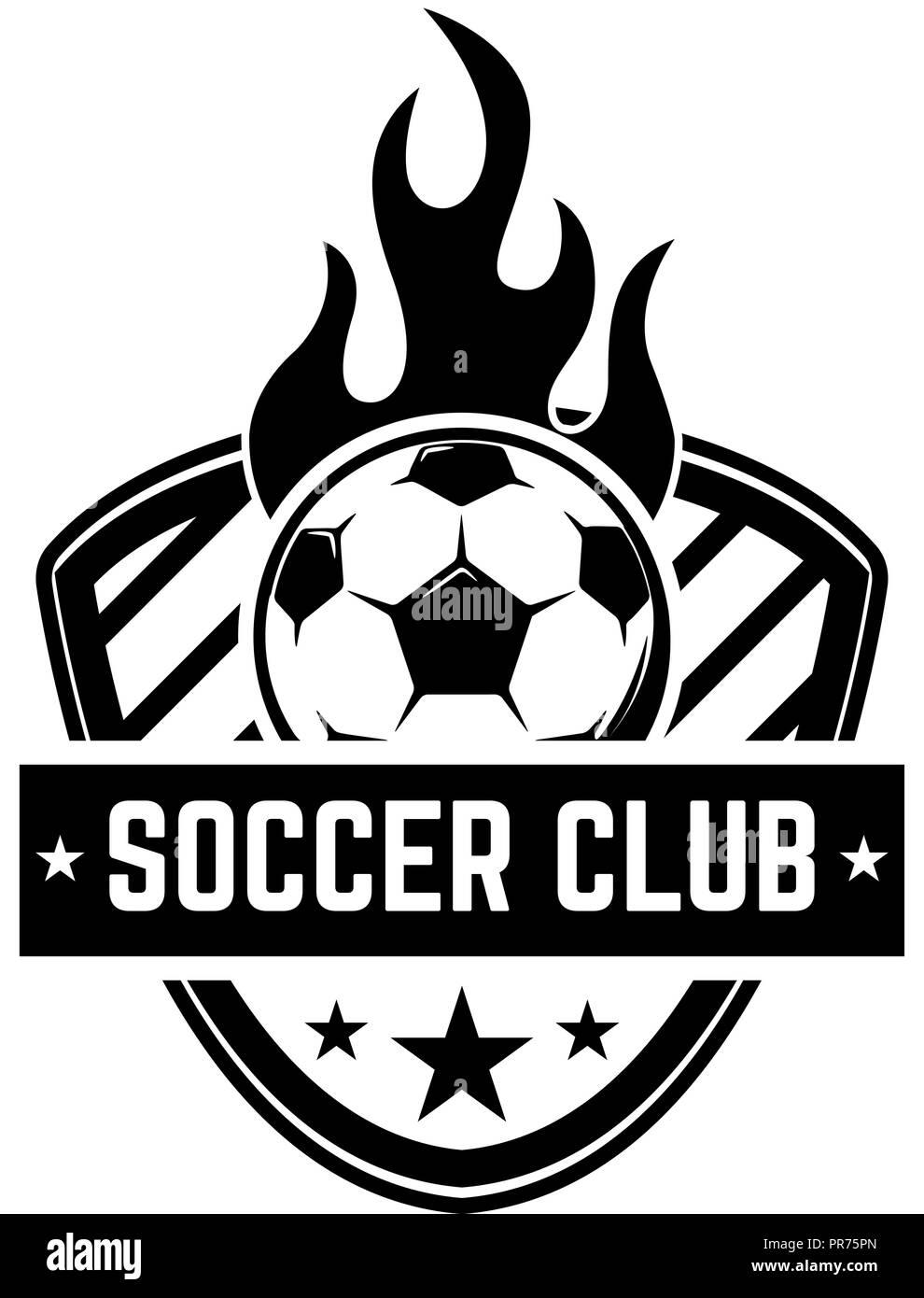 soccer football emblems design element for logo label emblem