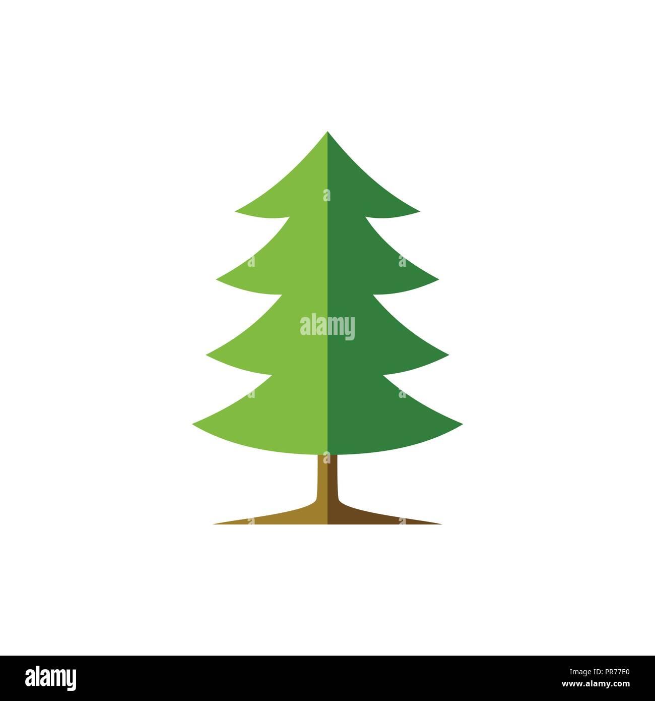 Simple Spruce Tree Illustration Vector Symbol Graphic Logo Design Template - Stock Vector