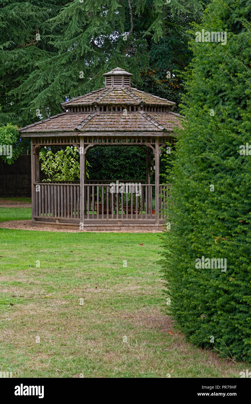 Summerhouse Knebworth House and Gardens UK - Stock Image