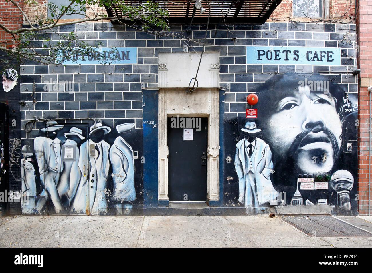Nuyorican Poets Cafe, 236 E 3rd St, New York, NY - Stock Image