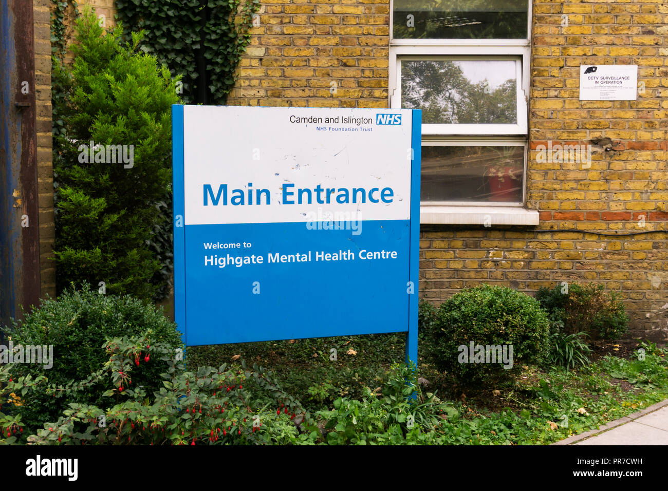 Highgate Mental Health Centre, part of the Camden and Islington NHS Foundation Trust. - Stock Image