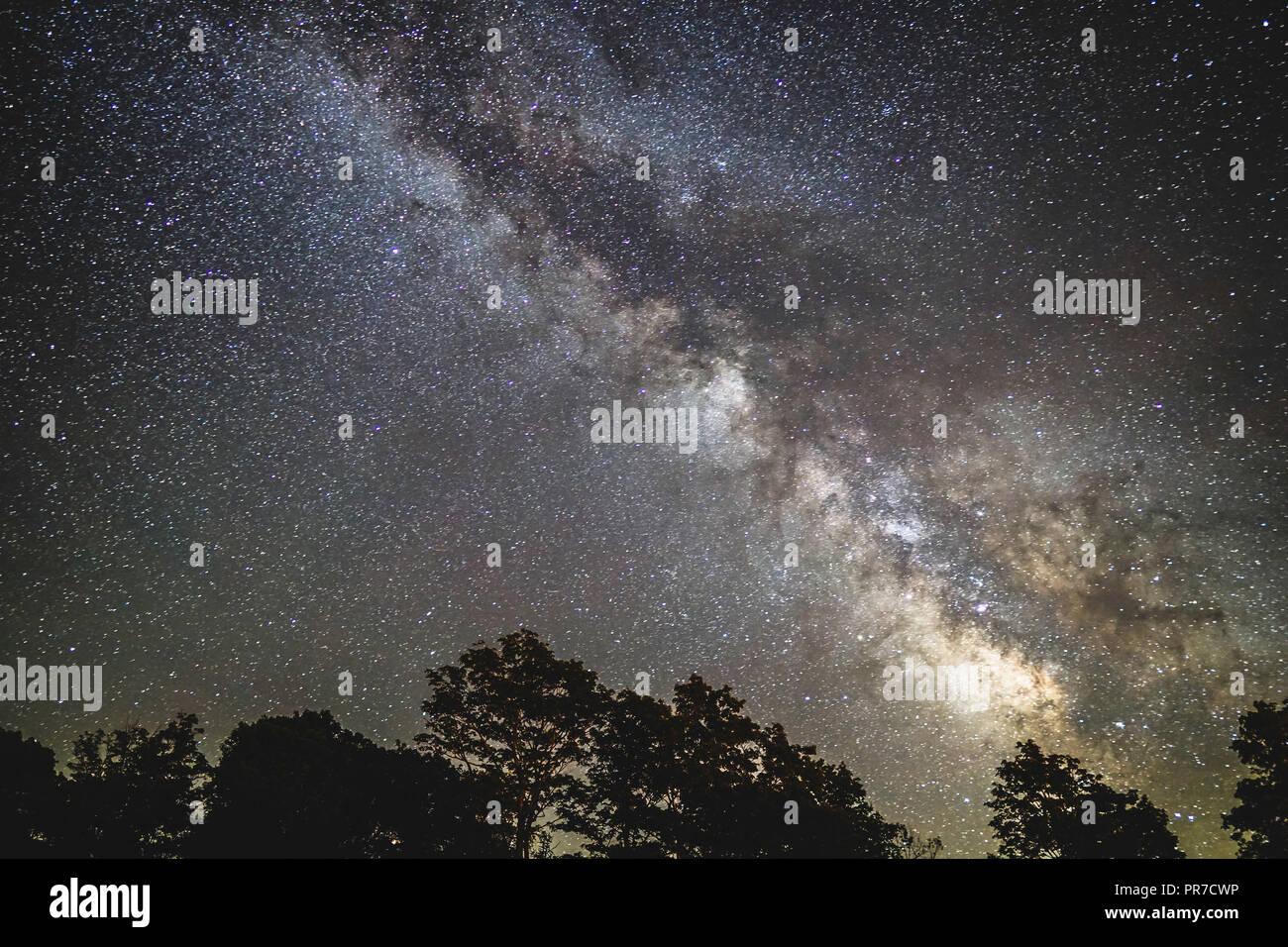 Night Sky Milky Way At Cherry Springs State Park Pa Stock Photo Alamy