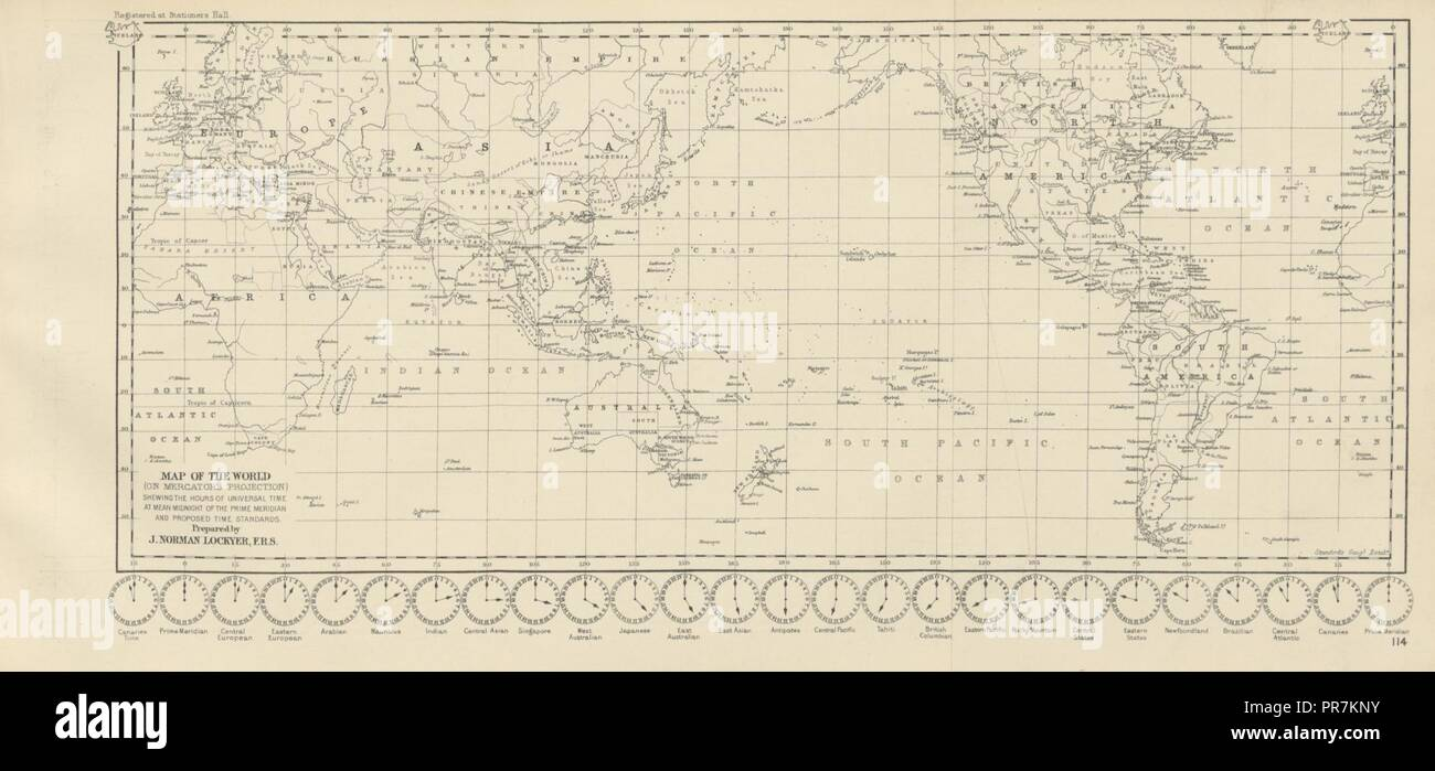 Map From England To Australia.Page 205 Of Orient Line Guide Chapters For Travellers By Sea And