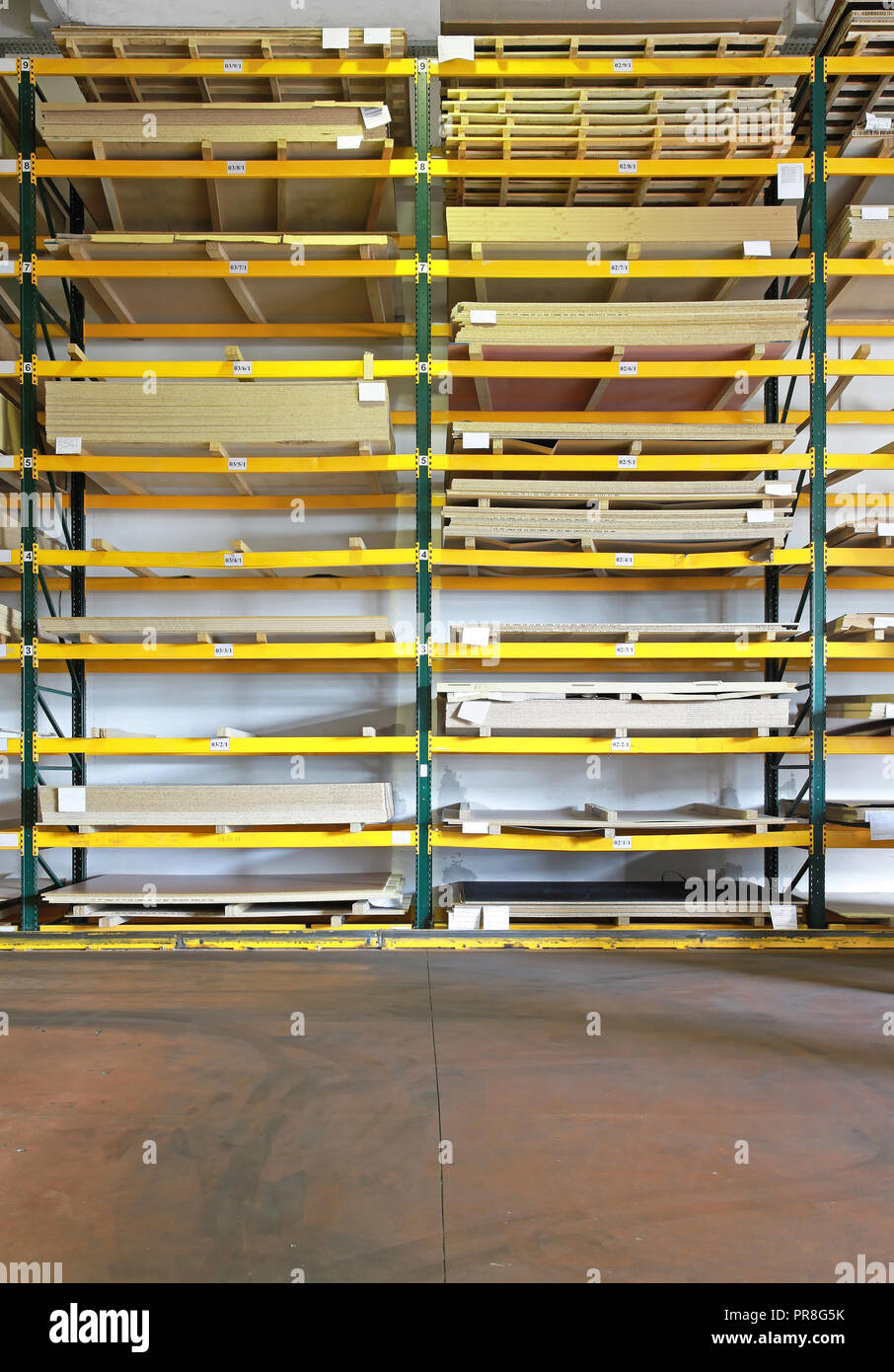 Wood And Plank Boards In Home Depot Warehouse Stock Photo 220849823