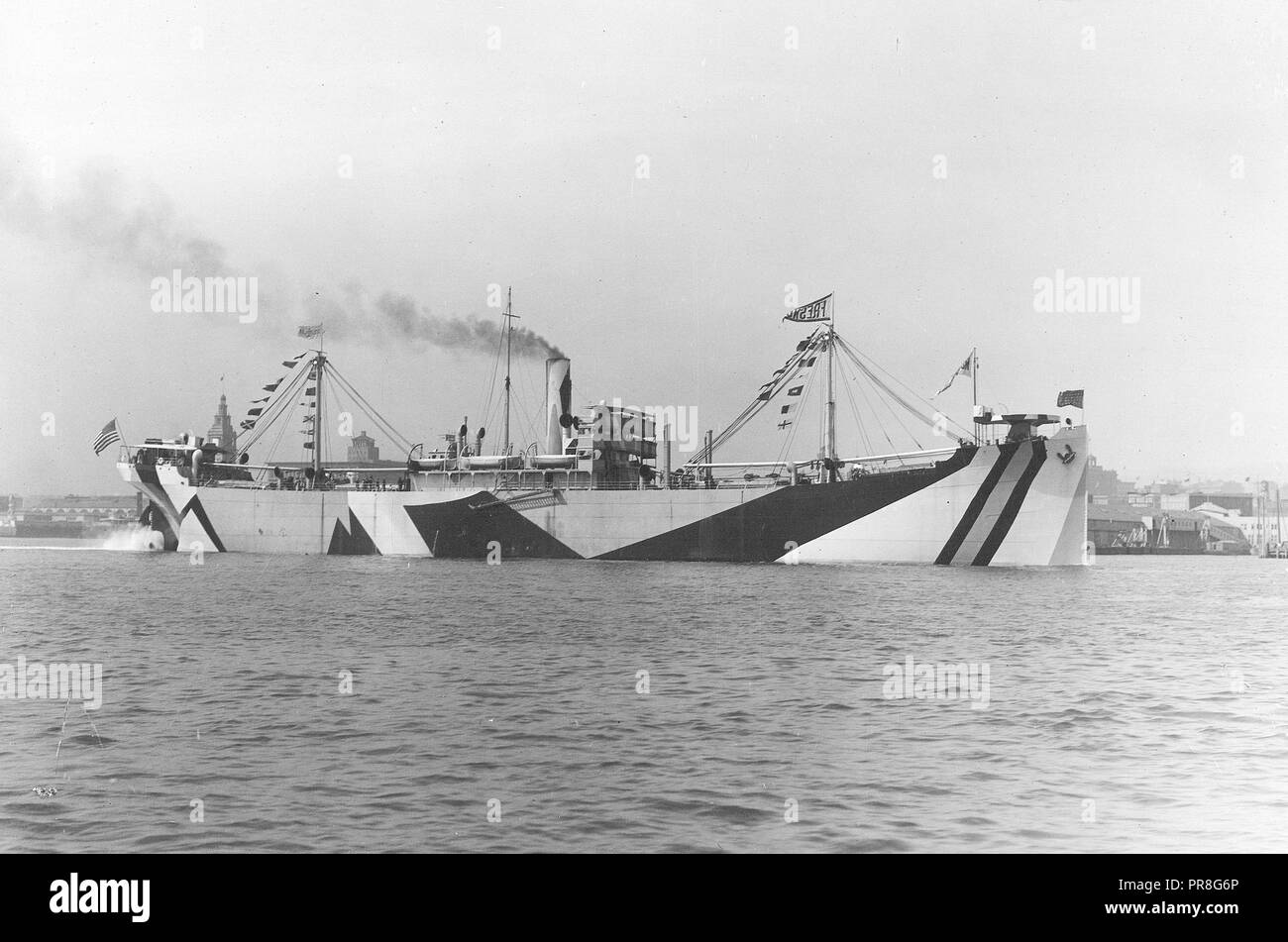 Camouflage - Ships - Steel Ship Construction, Moore Shibbuilding Co