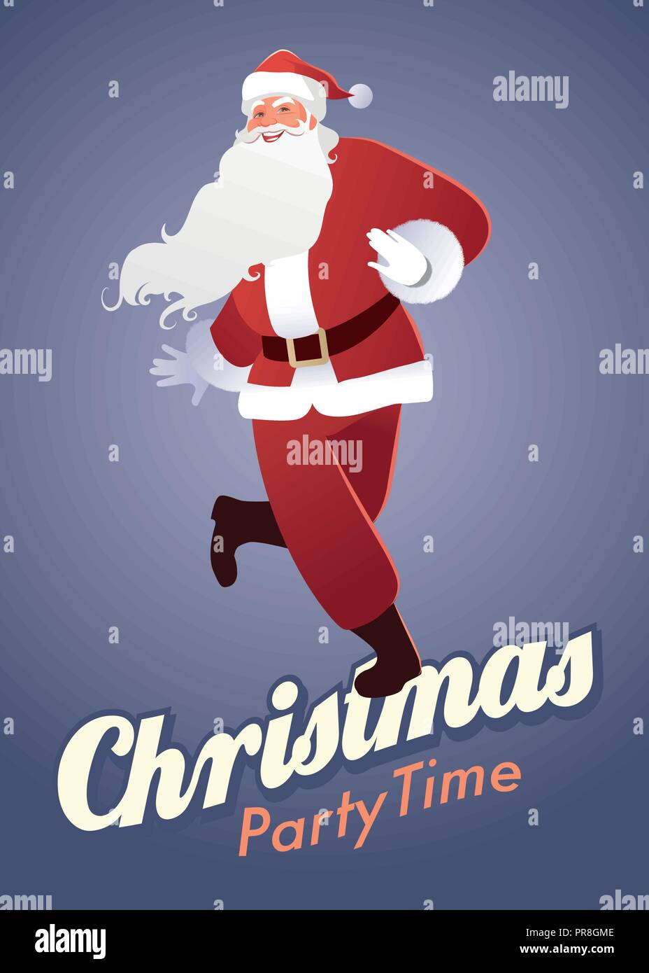 Christmas Party Time Images.Christmas Party Time Funny Santa Claus Dancing Swing