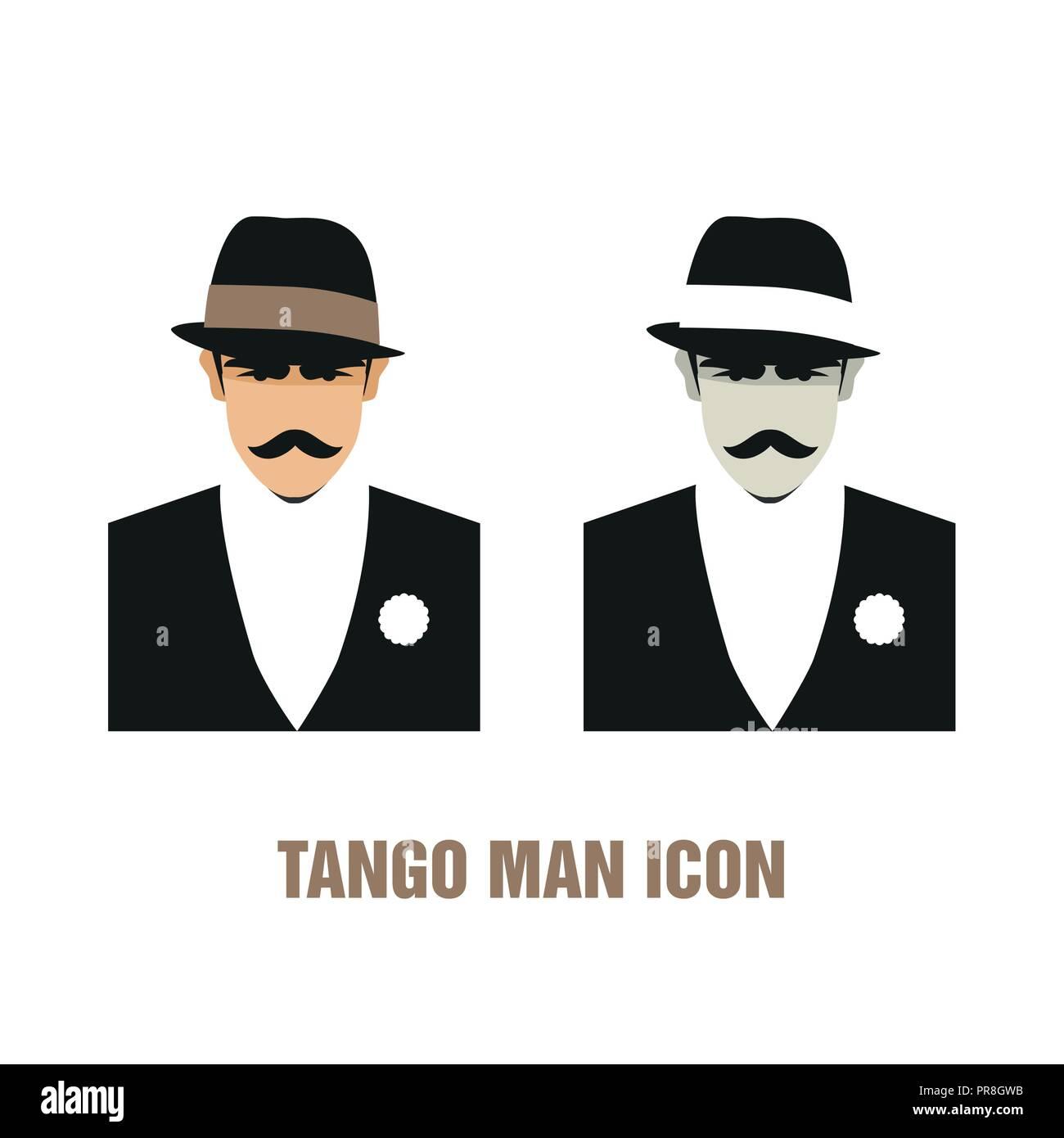 Tango man icon  Vector illustration  Good for logo Stock