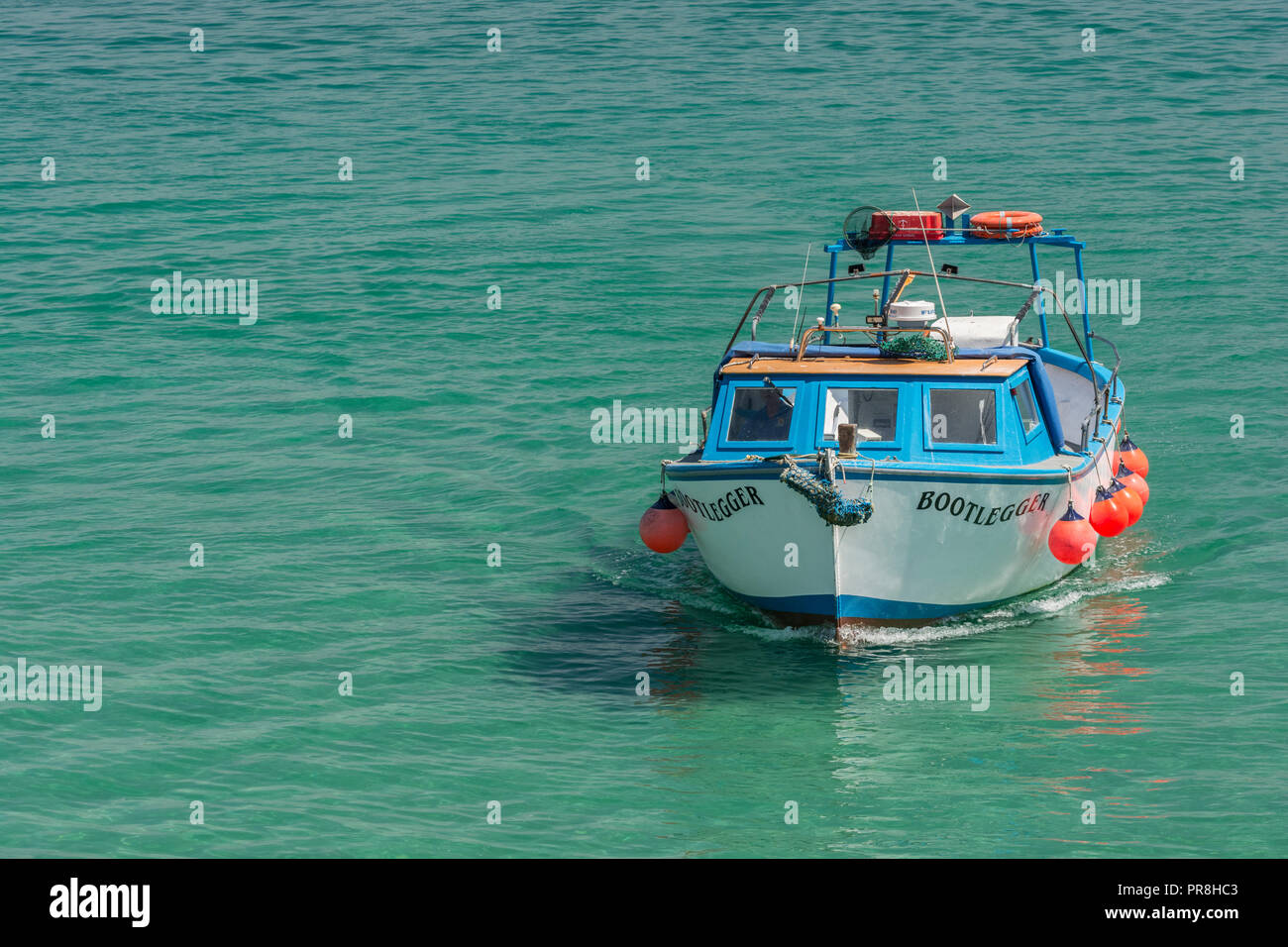Harbour scenes around Newquay, Cornwal. Staycation UK concept.l - Stock Image