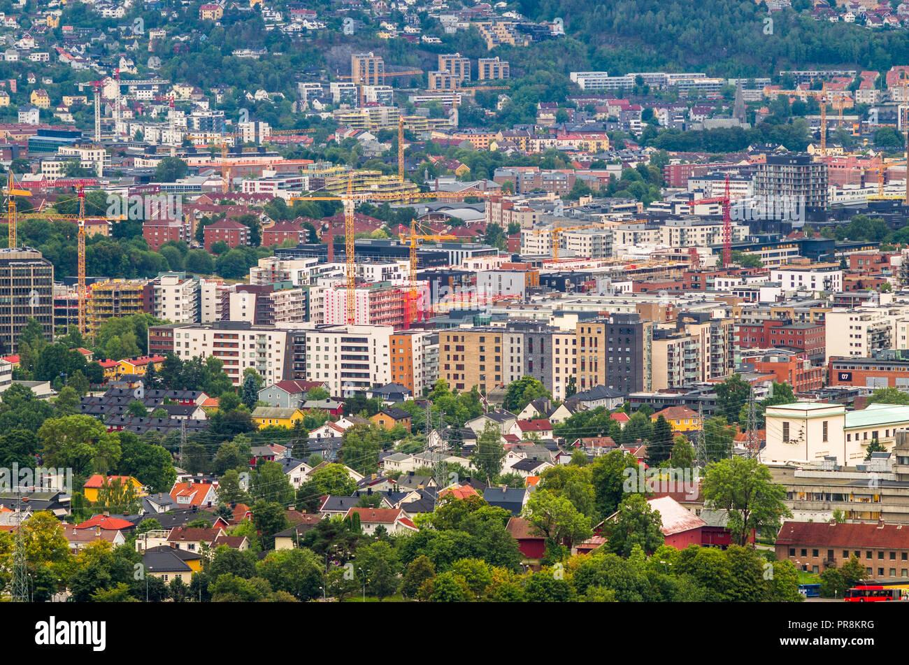 Loren- fast growing part of Oslo, Norway. Stock Photo