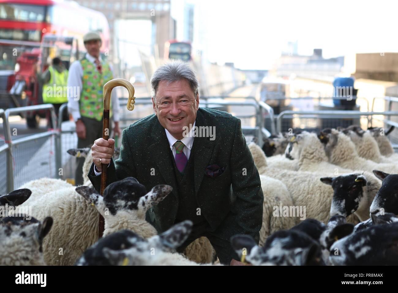 Alan Titchmarsh debut sheep drice 30/9/2018 - Stock Image