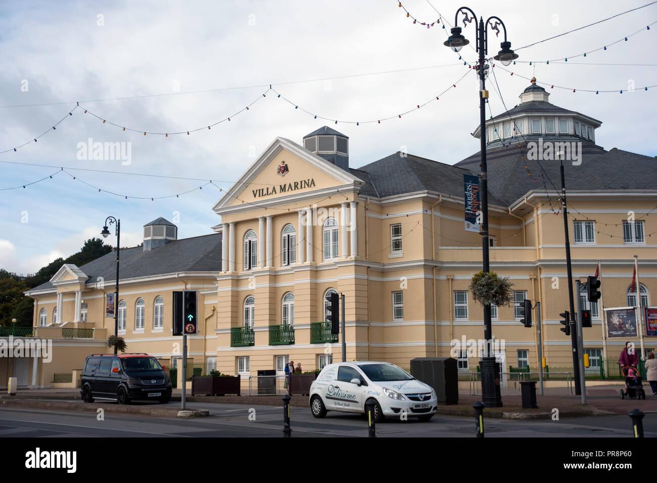 Villa Marina entertainment venue, Harris Promenade, Douglas,Isle of Man. - Stock Image