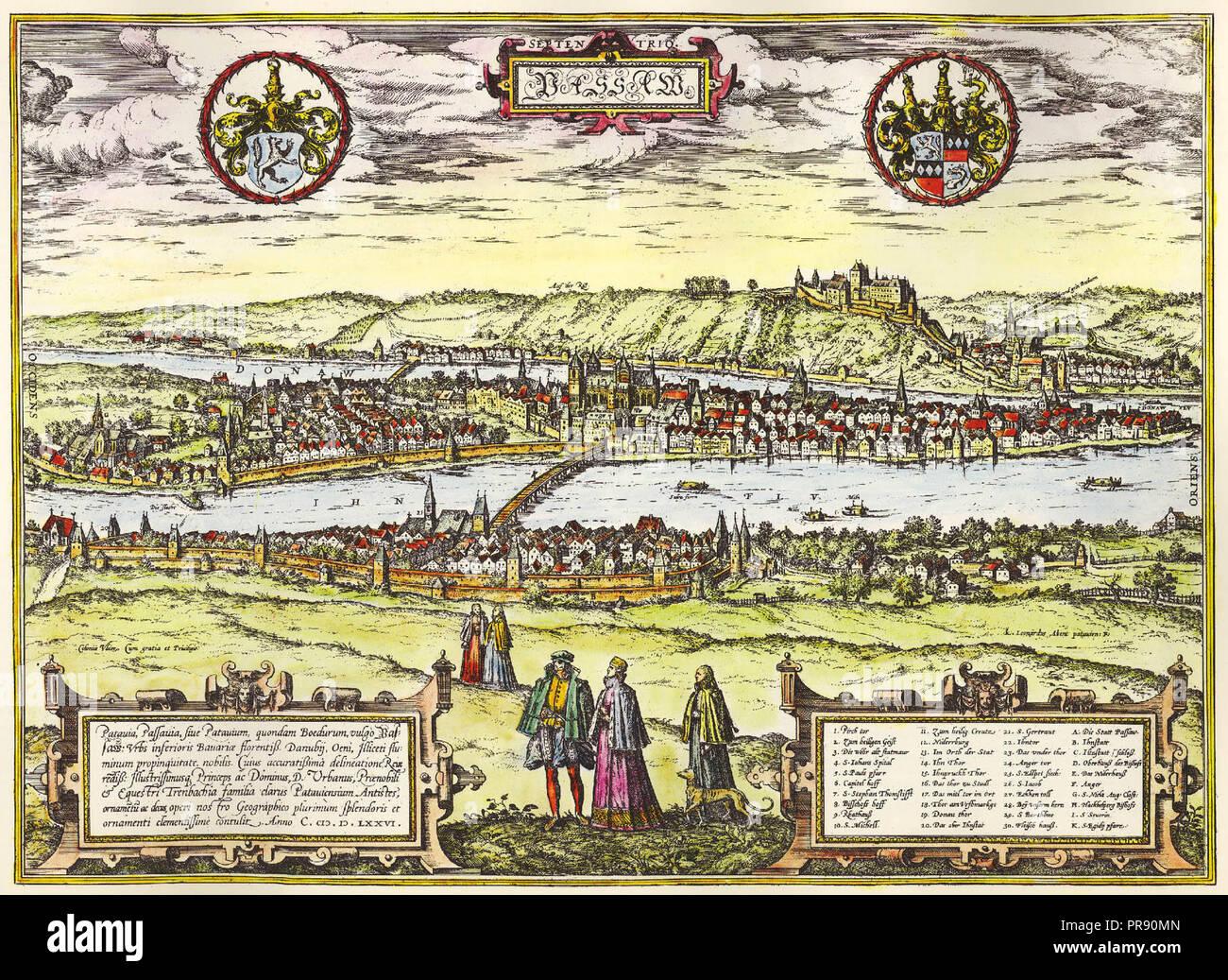 Passau C 1581 Stock Photo 220859653 Alamy