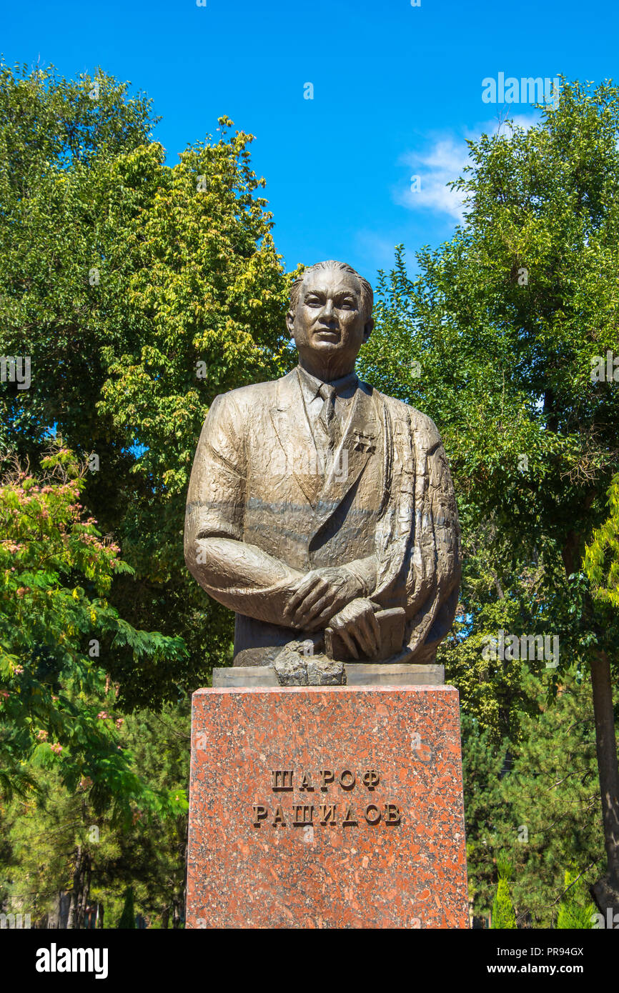 Monument Sharaf Rashidov First Secretary of the Central Committee of the Communist Party of Uzbekistan in Tashkent, Uzbekistan. Stock Photo
