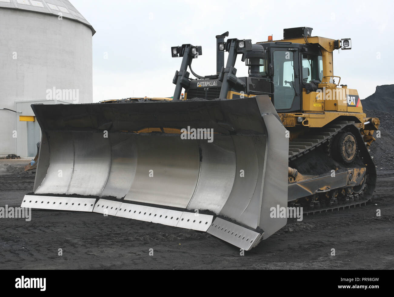 Caterpillar D9T Coal Dozer owned By Chepstow Plant Hire working at