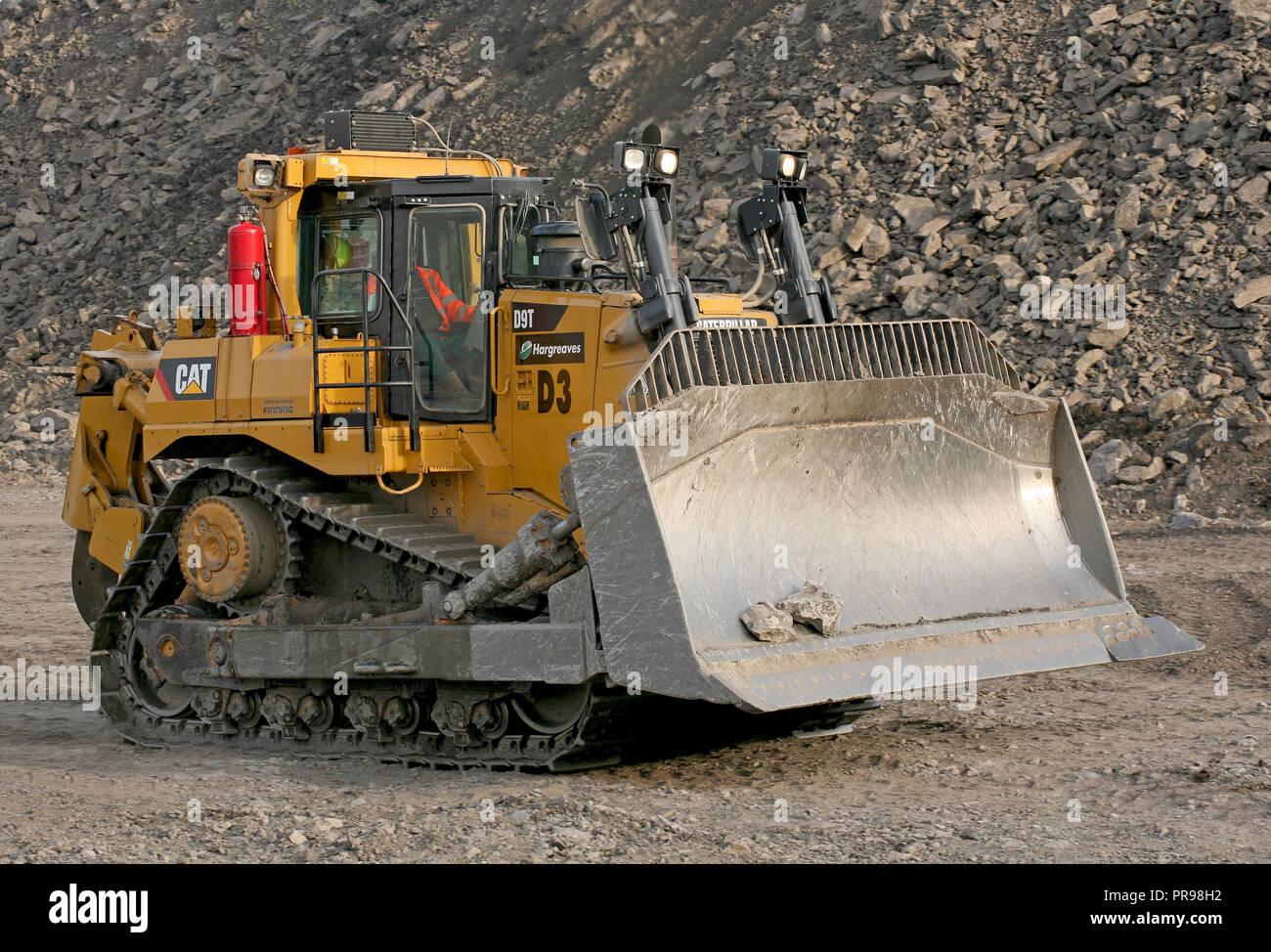 Caterpillar D9T Bulldozer Working at Tower Colliery open