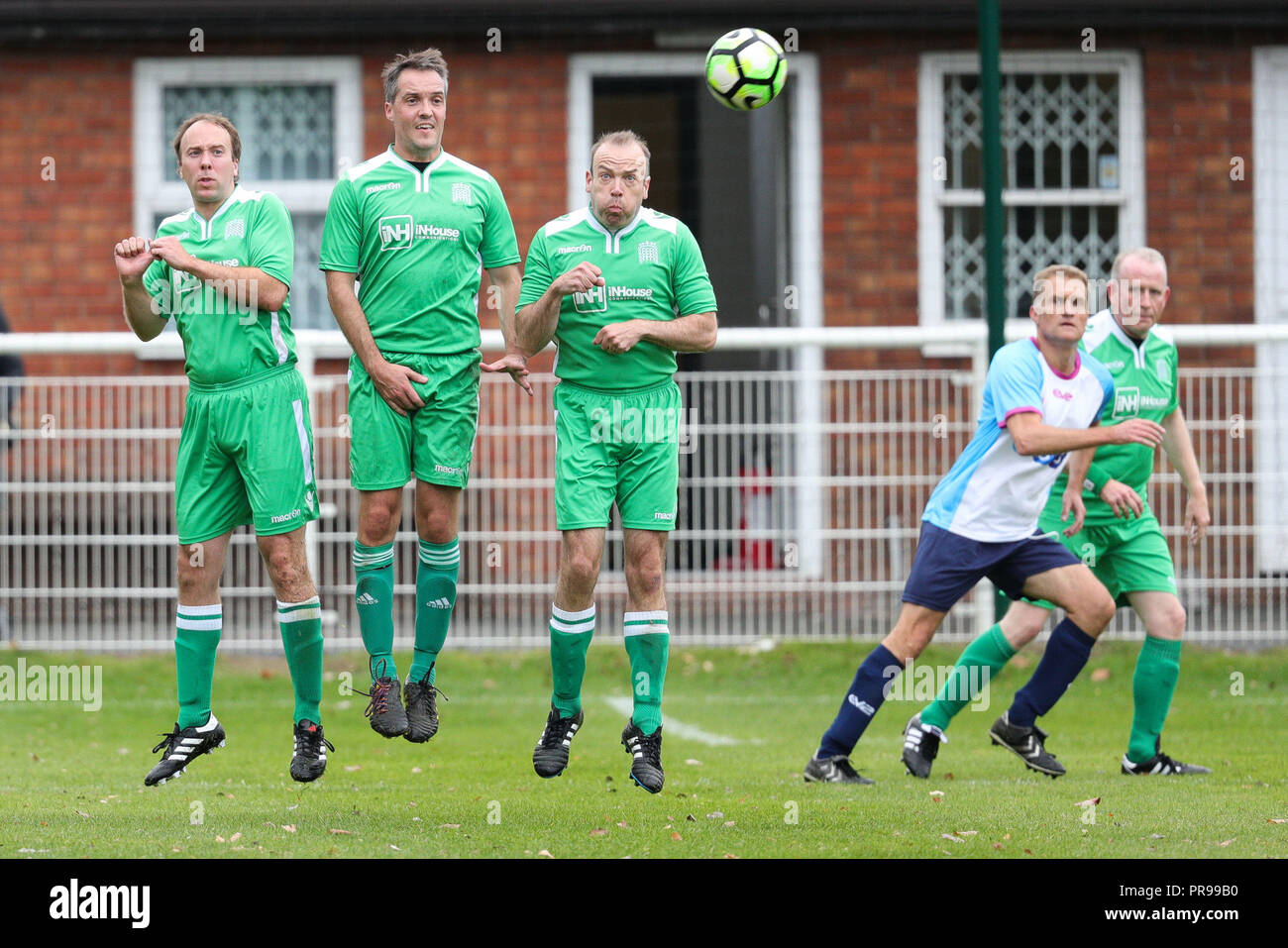 Health and Social Care Secretary Matt Hancock (right) during the  Journalists v MPs football match at