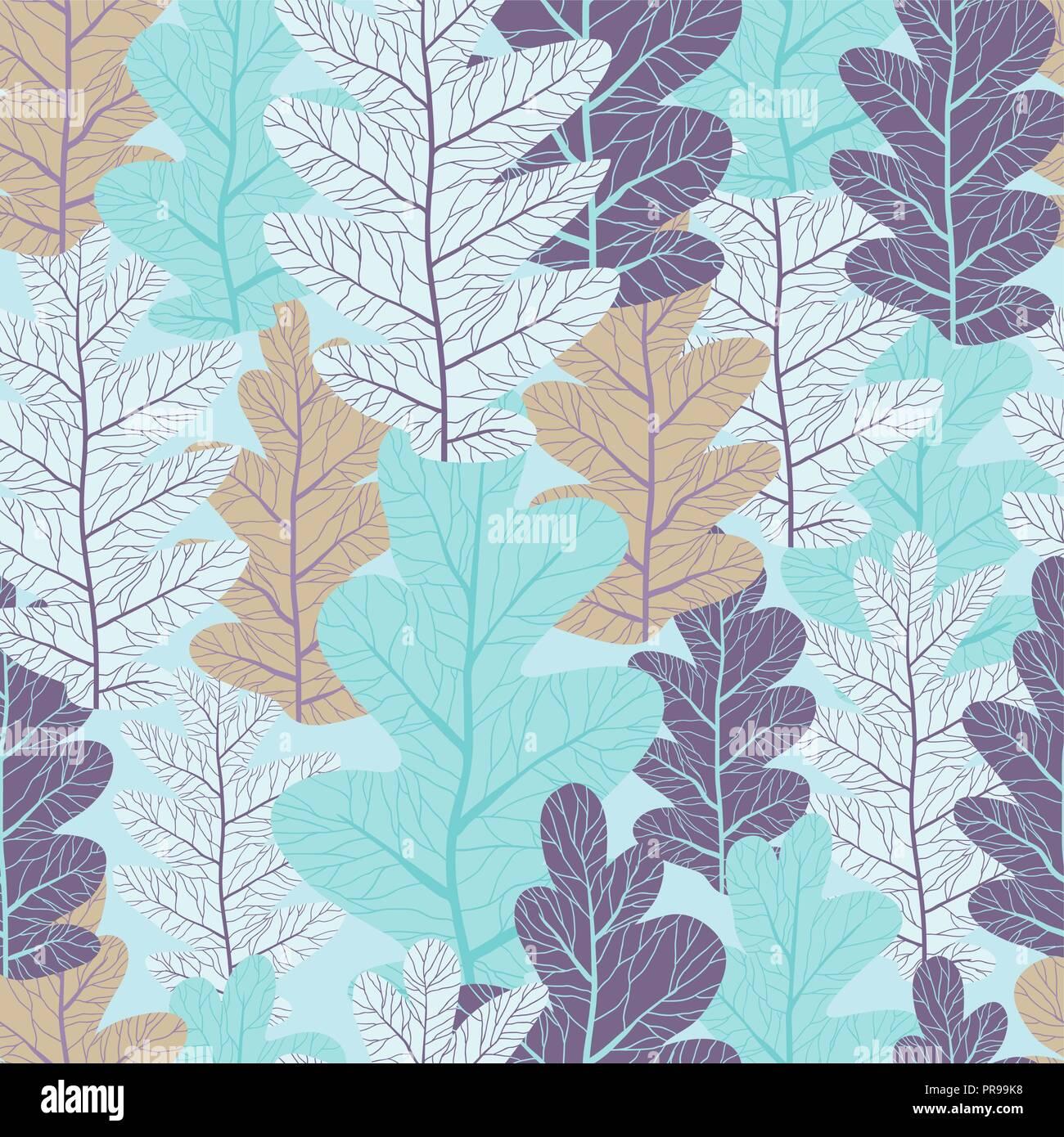 oak leaves stylized seamless pattern stock photos oak leaves