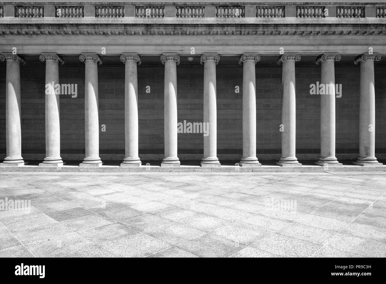 Pillars in retro style - Stock Image