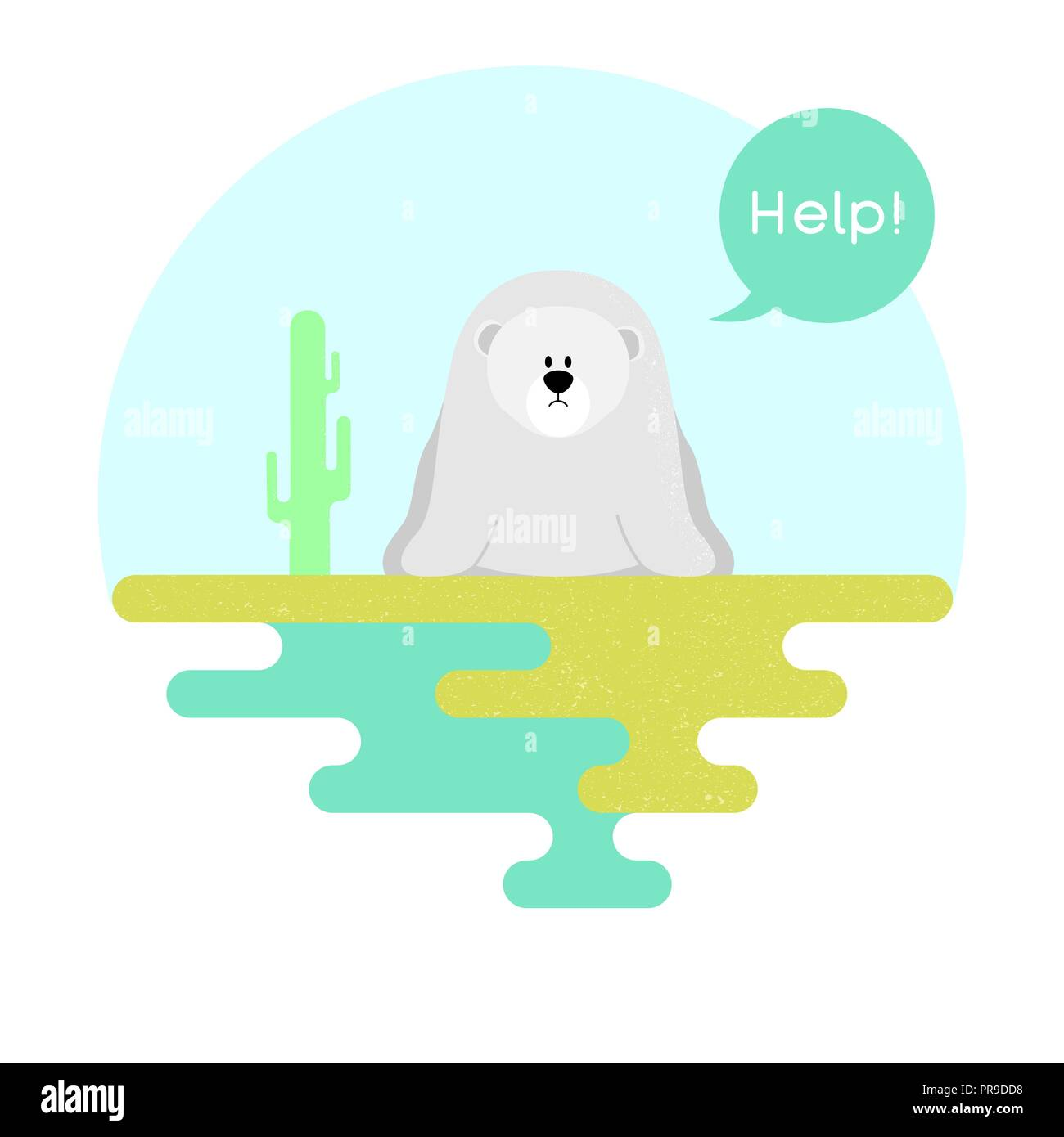 Illustration on the theme of global warming. Vector Stock Vector