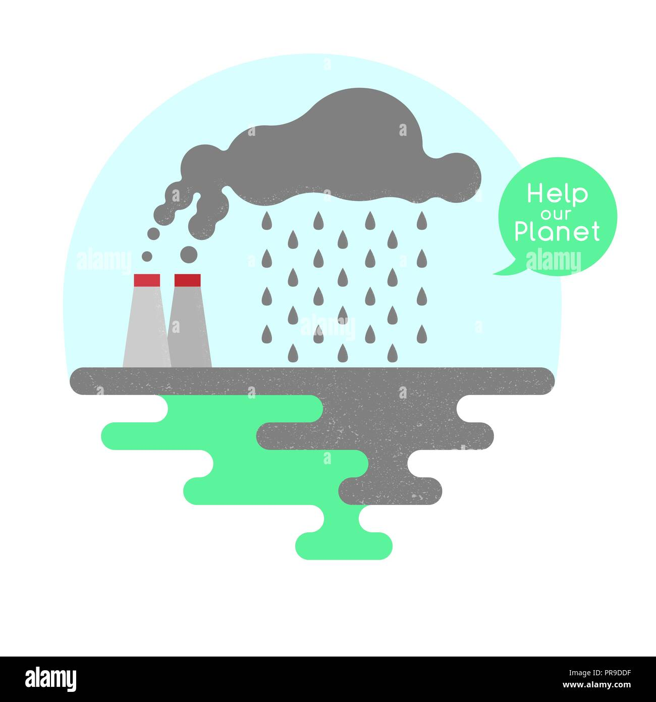 Illustration on the theme of pollution of the planet. Vector Stock Vector
